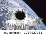 astronaut in spacesuit close up ... | Shutterstock . vector #1284627151