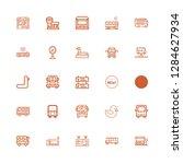 editable 25 arrival icons for... | Shutterstock .eps vector #1284627934