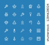 editable 25 kitchenware icons... | Shutterstock .eps vector #1284628024