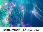abstract polygonal space on... | Shutterstock . vector #1284630367