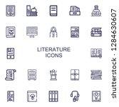 editable 22 literature icons... | Shutterstock .eps vector #1284630607