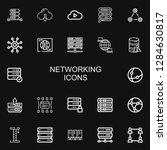 editable 22 networking icons... | Shutterstock .eps vector #1284630817