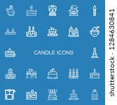editable 22 candle icons for... | Shutterstock .eps vector #1284630841