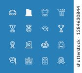 editable 16 ceremony icons for... | Shutterstock .eps vector #1284630844
