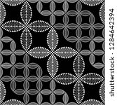 seamless black and white... | Shutterstock .eps vector #1284642394