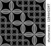 seamless black and white... | Shutterstock .eps vector #1284642397