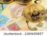 bitcoin coins new virtual money ...   Shutterstock . vector #1284650857