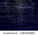 soccer field lines on old paper | Shutterstock . vector #1284650881