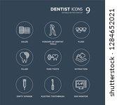 9 gauze  forceps of dentist... | Shutterstock .eps vector #1284652021