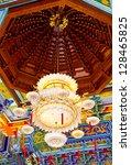 indoor big lamp in chinese...   Shutterstock . vector #128465825