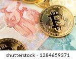 bitcoin and ukraine national...   Shutterstock . vector #1284659371