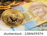 bitcoin and ukraine national...   Shutterstock . vector #1284659374
