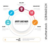 abstract infographics of army... | Shutterstock .eps vector #1284660124