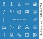 editable 22 angle icons for web ... | Shutterstock .eps vector #1284662764
