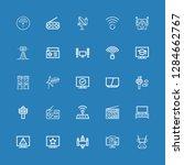 editable 25 antenna icons for... | Shutterstock .eps vector #1284662767
