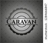 caravan dark emblem   Shutterstock .eps vector #1284666847