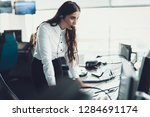 center of dispatching... | Shutterstock . vector #1284691174