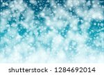 falling snow background.... | Shutterstock .eps vector #1284692014