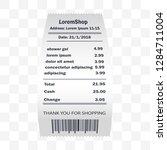 shower gel receipt printed ... | Shutterstock .eps vector #1284711004