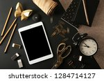 flat lay composition with... | Shutterstock . vector #1284714127