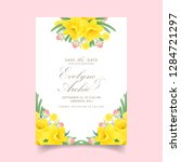 Floral Wedding Invitation With...