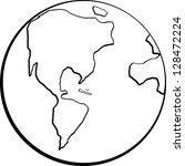earth planet | Shutterstock .eps vector #128472224