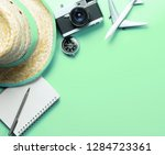travel accessories objects and... | Shutterstock . vector #1284723361
