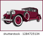retro red car from the roaring... | Shutterstock .eps vector #1284725134