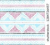 seamless ethnic pattern. grunge ...   Shutterstock .eps vector #1284726457
