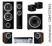 set of realistic speakers of... | Shutterstock .eps vector #1284727831