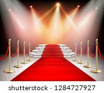 realistic red carpet and... | Shutterstock .eps vector #1284727927