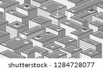 isometric background with a... | Shutterstock .eps vector #1284728077