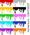 set of seamless horizontal... | Shutterstock .eps vector #1284728257