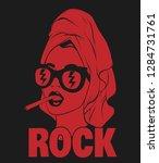 rock. vector hand drawn...   Shutterstock .eps vector #1284731761