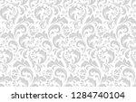 floral pattern. vintage... | Shutterstock . vector #1284740104