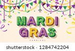 Mardi Gras Banner With...