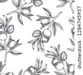 vector seamless pattern with...   Shutterstock .eps vector #1284745957