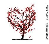 love tree for your design | Shutterstock .eps vector #128475257
