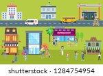 city community lifestyle ... | Shutterstock . vector #1284754954