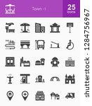 town glyph icons | Shutterstock .eps vector #1284756967