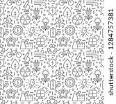 seamless pattern with ecology... | Shutterstock .eps vector #1284757381
