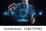 time management project... | Shutterstock . vector #1284759481