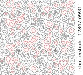 seamless pattern with elements... | Shutterstock .eps vector #1284759931