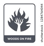 woods on fire icon vector on... | Shutterstock .eps vector #1284764044