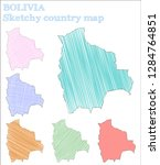 bolivia sketchy country.... | Shutterstock .eps vector #1284764851