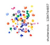 watercolor confetti on white... | Shutterstock .eps vector #1284764857