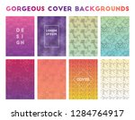 gorgeous cover backgrounds.... | Shutterstock .eps vector #1284764917