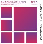 colorful gradients in jazzberry ... | Shutterstock .eps vector #1284765094