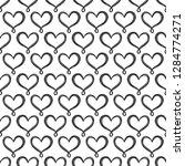 vector hand drawn hearts... | Shutterstock .eps vector #1284774271