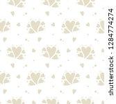 vector hand drawn hearts... | Shutterstock .eps vector #1284774274